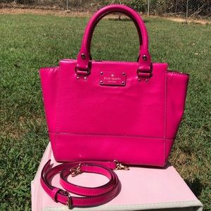 Kate Spade Hot Pink Wellesley Small Camryn Purse